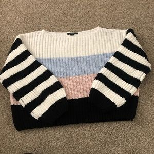 Forever 21 Chenille Color Block Sweater